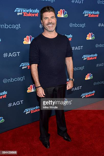 Personality Simon Cowell attends the America's Got Talent Season 11 Live Show at Dolby Theatre on August 23 2016 in Hollywood California