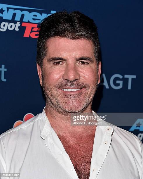 TV personality Simon Cowell attends the America's Got Talent Season 11 Live Show at The Dolby Theatre on August 30 2016 in Hollywood California