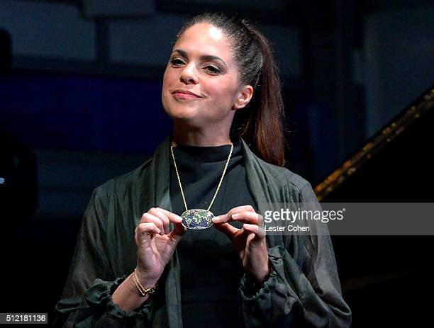 TV personality Soledad O'Brien speaks onstage during Global Green USA's 13th annual preOscar party at Mr C Beverly Hills on February 24 2016 in Los...