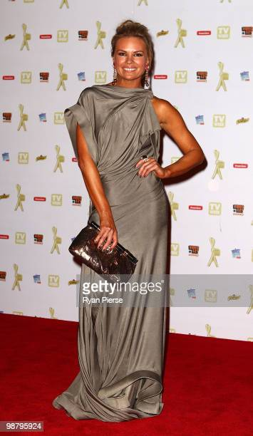 TV personality Sonia Kruger arrives at the 52nd TV Week Logie Awards at Crown Casino on May 2 2010 in Melbourne Australia