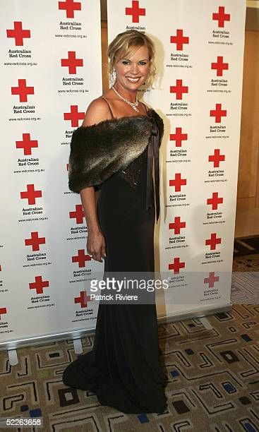TV personality Sonia Krugger attends the Australian Red Cross 90th Anniversary Gala at the Westin Hotel March 2 2005 in Sydney Australia