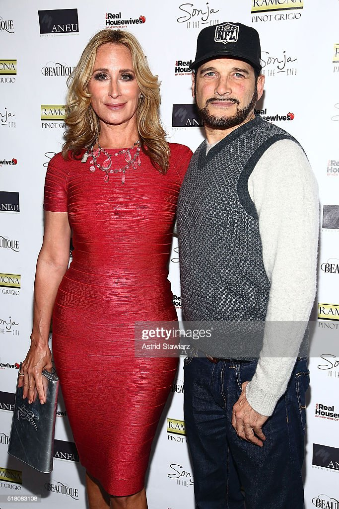 TV personality Sonja Morgan and celebrity stylist Philip Bloch attend 'The Real Housewives Of New York City' Season 8 Premiere Party at Beautique on March 29, 2016 in New York City.