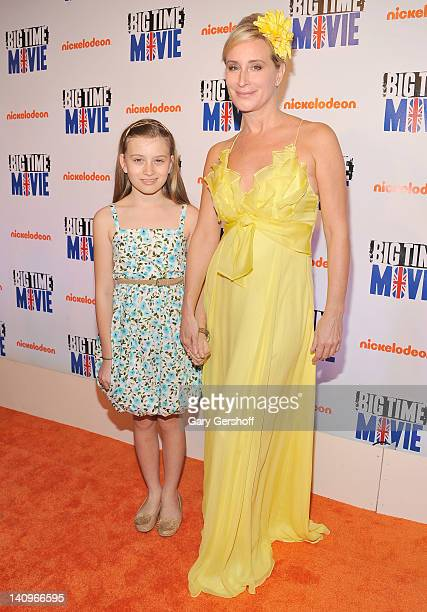 TV personality Sonja Morgan and daughter Quiny Motgan attend the Big Time Movie New York premiere at 583 Park Avenue on March 8 2012 in New York City