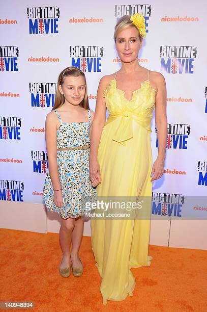 Personality Sonja Morgan and her daughter Quincy Morgan attend Nickelodeon Hosts Orange Carpet Premiere For Original TV Movie Big Time Movie Starring...