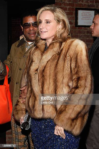 TV personality Sonja Morgan arrives to the Rusk Hair Care Being Sexy new collection preview at The Chelsea Room on December 15 2011 in New York City