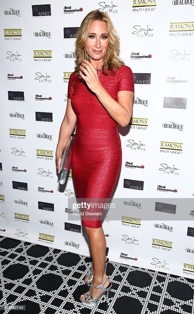 TV personality Sonja Morgan attends 'The Real Housewives Of New York City' Season 8 Premiere Party at Beautique on March 29, 2016 in New York City.
