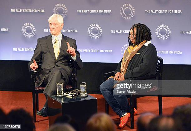 TV personality Sonny Fox and actress Whoopi Goldberg attend The Paley Center For Media Presents Sonny Fox Forty Years in Television A Conversation...