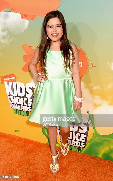 TV personality Sophia Grace Brownlee attends Nickelodeon's 2016 Kids' Choice Awards at The Forum on March 12 2016 in Inglewood California