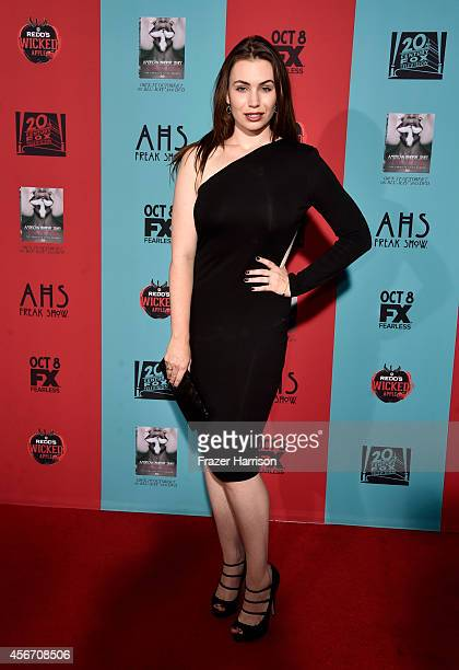 TV personality Sophie Simmons attends FX's American Horror Story Freak Show premiere screening at TCL Chinese Theatre on October 5 2014 in Hollywood...