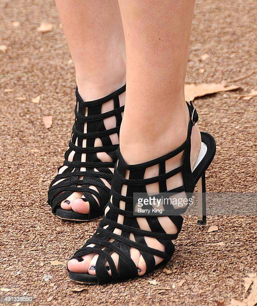 TV personality Sophie Simmons shoe detail attends the Premiere Of Sony Entertainment's 'Goosebumps' at the Regency Village Theater on October 4 2015...