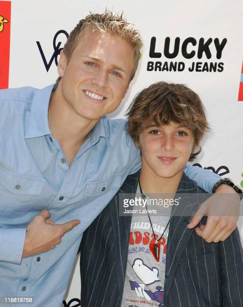 TV personality Spencer Pratt and singer Jackson Guthy attend the Second Annual Kidstock Music and Art Festival on June 1 2008 in Beverly Hills...