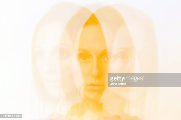 personality, split personality, mental health, identity, individuality, bipolar, dissociative identity disorder, personalities - digital composite stock pictures, royalty-free photos & images