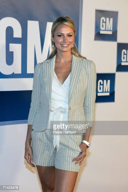 TV personality Stacy Keibler arrives at the 3rd annual GM AllCar Showdown held at Paramount Pictures on July 11 2006 in Hollywood California The GM...