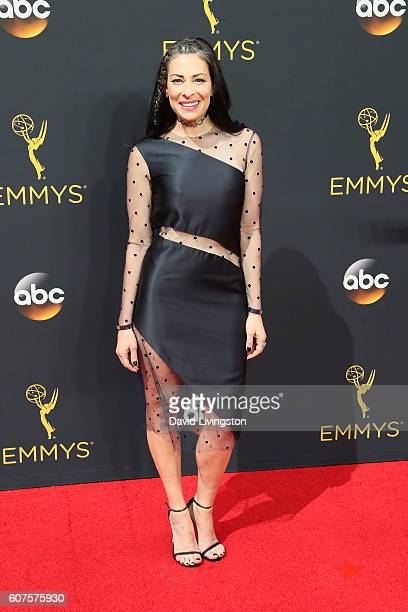 TV personality Stacy London arrives at the 68th Annual Primetime Emmy Awards at the Microsoft Theater on September 18 2016 in Los Angeles California