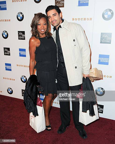 TV personality Star Jones and actor Gilles Marini attend the restaurant grand opening party at Bouchon on November 16 2009 in Beverly Hills California