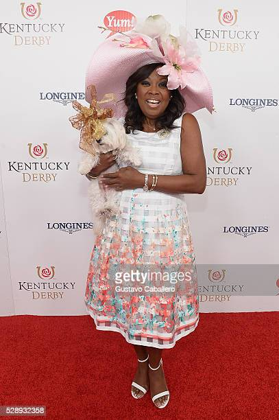 TV personality Star Jones attends the 142nd Kentucky Derby at Churchill Downs on May 07 2016 in Louisville Kentucky