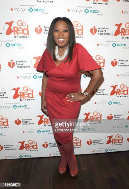 Personality Star Jones attends the Woman's Day Red Dress Awards to celebrate the 10th Year of Go Red For Women with American Heart Association at A...