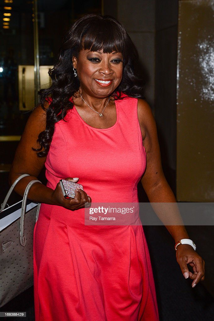 TV personality Star Jones leaves the 'Today Show' taping at the NBC Rockefeller Center Studios on May 9, 2013 in New York City.