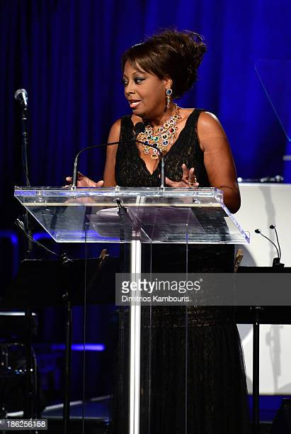 Personality Star Jones speaks onstage during Gabrielle's Angel Foundation Hosts Angel Ball 2013 at Cipriani Wall Street on October 29 2013 in New...