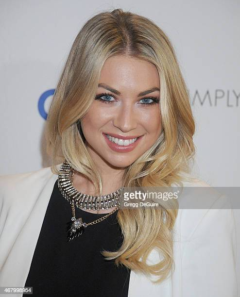 TV personality Stassi Schroeder arrives at Simply Stylist LA at The Grove on March 28 2015 in Los Angeles California