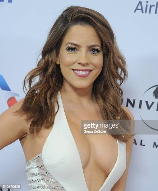 TV personality Stephanie Bauer arrives at Universal Music Group's 2016 GRAMMY After Party at The Theatre At The Ace Hotel on February 15 2016 in Los...