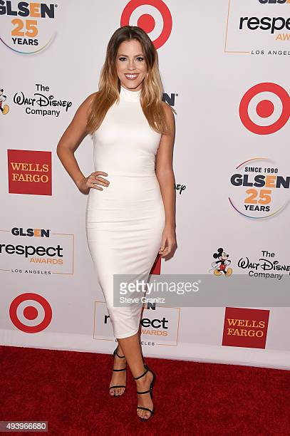 TV personality Stephanie Bauer attends the 2015 GLSEN Respect Awards at the Beverly Wilshire Four Seasons Hotel on October 23 2015 in Beverly Hills...