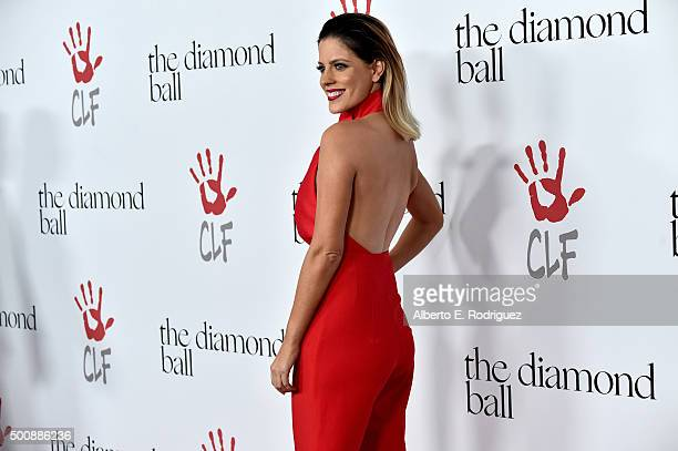 TV personality Stephanie Bauer attends the 2nd Annual Diamond Ball hosted by Rihanna and The Clara Lionel Foundation at The Barker Hanger on December...