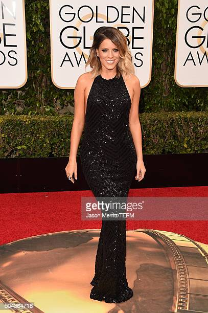 TV personality Stephanie Bauer attends the 73rd Annual Golden Globe Awards held at the Beverly Hilton Hotel on January 10 2016 in Beverly Hills...