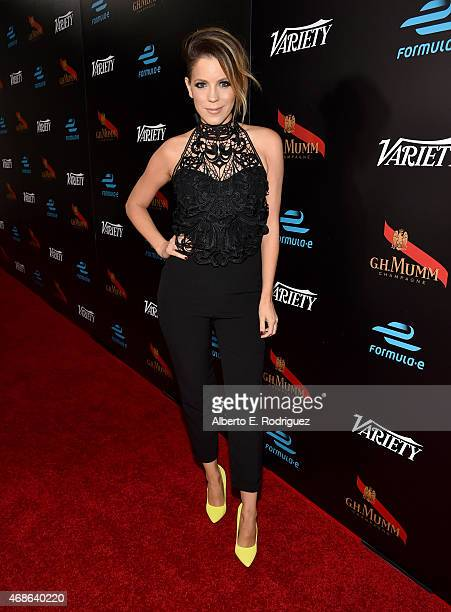 TV personality Stephanie Bauer attends the Variety and Formula E Hollywood Gala at Chateau Marmont on April 4 2015 in Los Angeles California