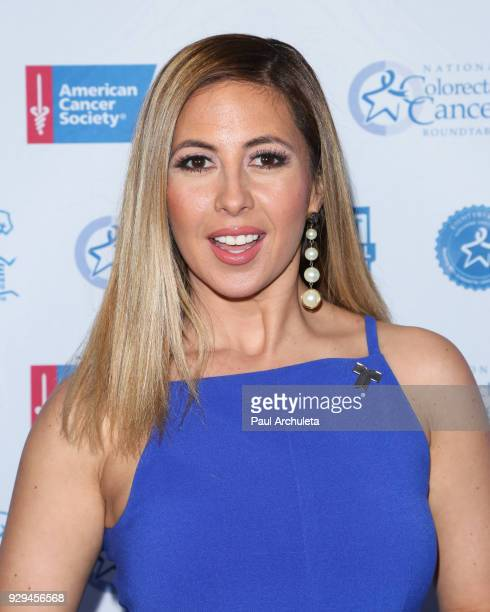 Personality Stephanie Himonidis attends The American Cancer Society 'Fight Colorectal Cancer' and The National Colorectal Cancer Roundtable at...