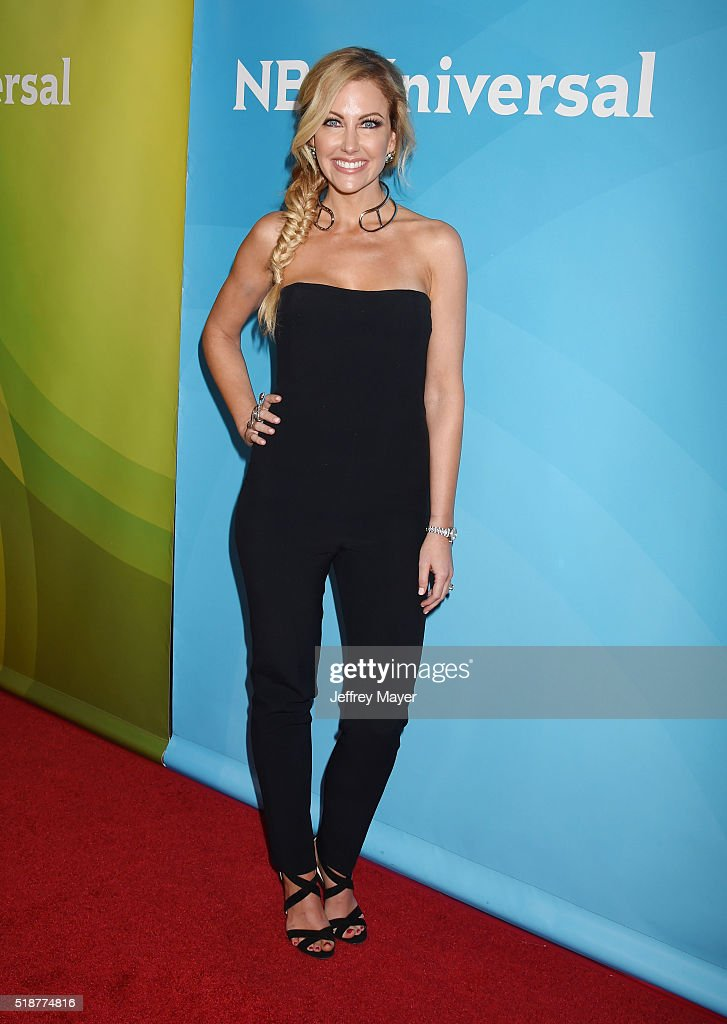 TV personality Stephanie Hollman arrives at the 2016 Summer TCA Tour - NBCUniversal Press Tour at the Four Seasons Hotel - Westlake Village on April 1, 2016 in Westlake Village, California.