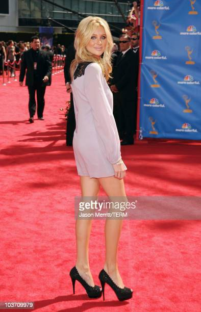 TV personality Stephanie Pratt arrives at the 62nd Annual Primetime Emmy Awards held at the Nokia Theatre LA Live on August 29 2010 in Los Angeles...