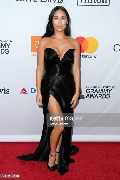 TV personality Stephanie Shepherd attends the Clive Davis and Recording Academy PreGRAMMY Gala and GRAMMY Salute to Industry Icons Honoring JayZ on...