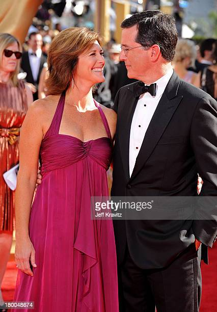 TV personality Stephen Colbert and wife Evelyn McGee arrive at the 61st Primetime Emmy Awards held at the Nokia Theatre on September 20 2009 in Los...