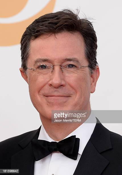 TV personality Stephen Colbert arrives at the 65th Annual Primetime Emmy Awards held at Nokia Theatre LA Live on September 22 2013 in Los Angeles...