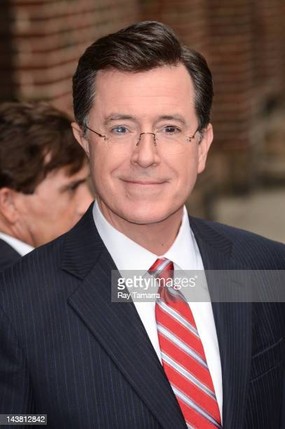 TV personality Stephen Colbert leaves the 'Late Show With David Letterman' taping at the Ed Sullivan Theater on May 3 2012 in New York City