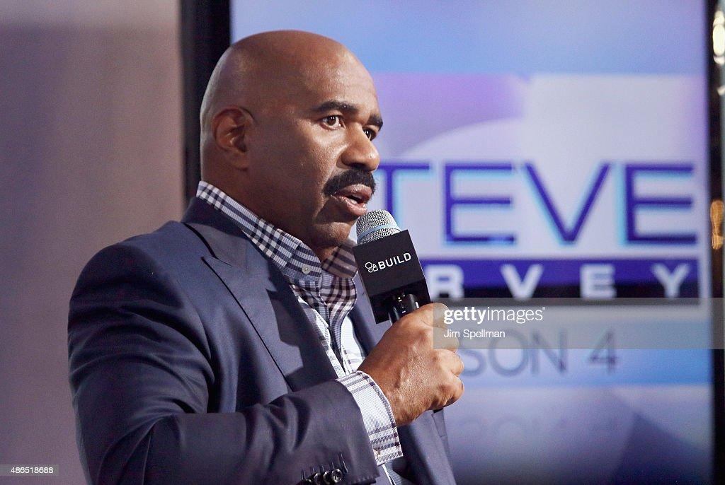 TV personality Steve Harvey attends the AOL BUILD Speaker Series: Steve Harvey at AOL Studios In New York on September 4, 2015 in New York City.