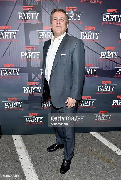 Personality Steve Levy attends ESPN The Party on February 5, 2016 in San Francisco, California.
