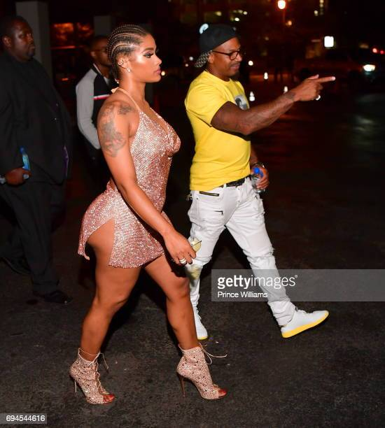 Personality Stevie J and Joseline Hernandez Host a Party at Gold Room on June 10 2017 in Atlanta Georgia