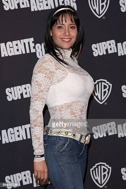 Personality Sugey Abrego attends the premiere of Get Smart at the Cinemark Polanco on June 25 2008 in Mexico City
