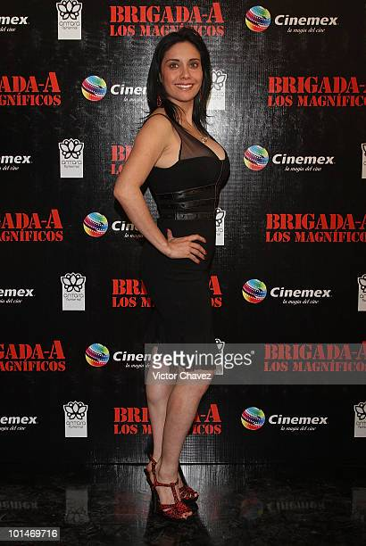 TV personality Sugey Abrego attends the premiere of The ATeam at Cinemex Antara Polanco on May 31 2010 in Mexico City Mexico