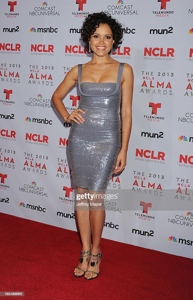 TV personality Susie Castillo poses in the press room at the 2013 NCLA ALMA Awards at Pasadena Civic Auditorium on September 27, 2013 in Pasadena, California.