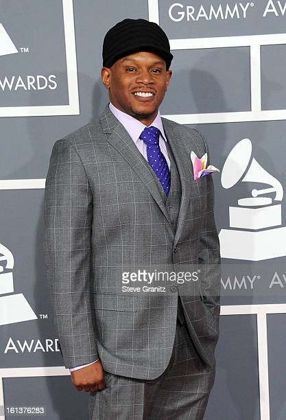 TV personality Sway attends the 55th Annual GRAMMY Awards at STAPLES Center on February 10 2013 in Los Angeles California