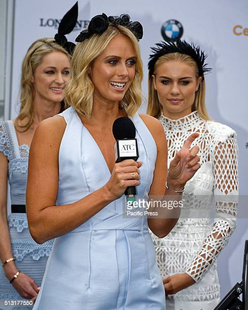 RANDWICK SYDNEY NSW AUSTRALIA TV personality Syliva Jeffreys speaks at the launch of the 2016 Sydney Autumn Carnival at Royal Randwick The Autumn...