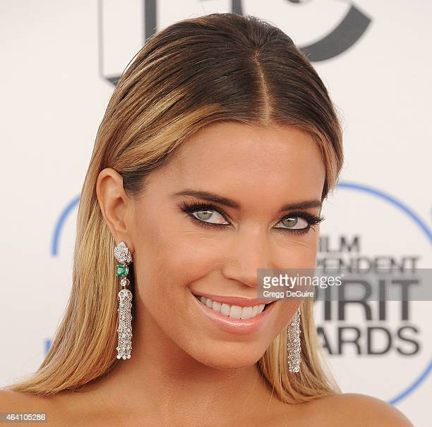 TV personality Sylvie Meis arrives at the 2015 Film Independent Spirit Awards on February 21 2015 in Santa Monica California