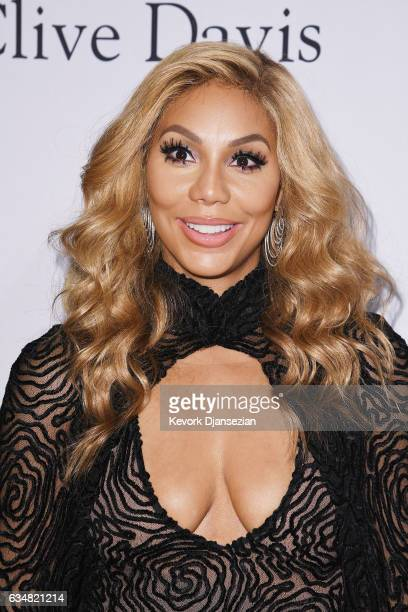 TV personality Tamar Braxton attends PreGRAMMY Gala and Salute to Industry  Icons Honoring Debra Lee at