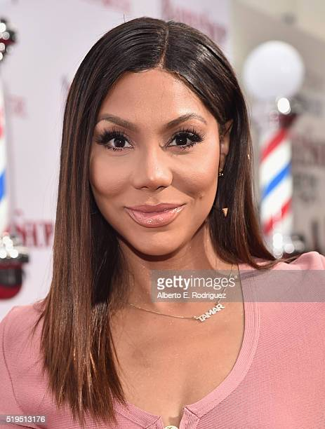 TV personality Tamar Braxton attends the premiere of New Line Cinema's 'Barbershop The Next Cut' at the TCL Chinese Theatre IMAX on April 6 2016 in...