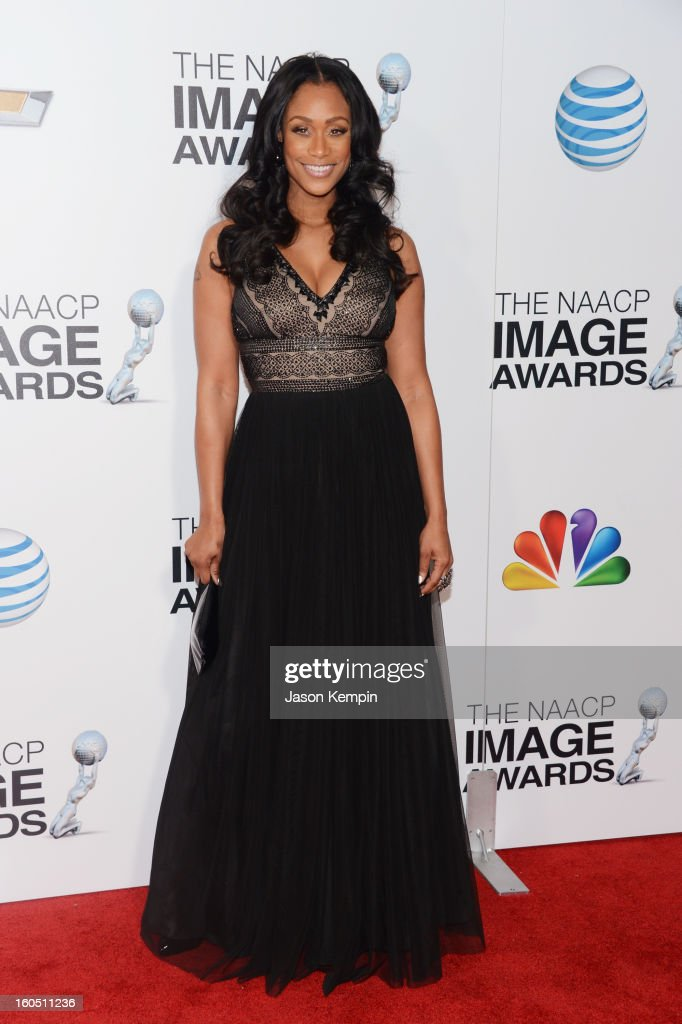 TV Personality Tami Roman arrives at the 44th NAACP Image Awards held at The Shrine Auditorium on February 1, 2013 in Los Angeles, California.