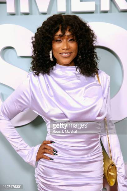Personality Tami Roman attends BET's 'American Soul' Red Carpet at Wolf Theatre on February 04 2019 in North Hollywood California