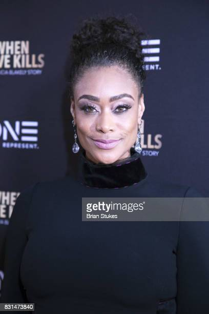 Personality Tami Roman attends 'When Love Kills The Falicia Blakely Story' screening at Newton White Mansion on August 14 2017 in Mitchellville...